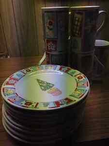 Christmas plates and mugs Windsor Region Ontario image 1
