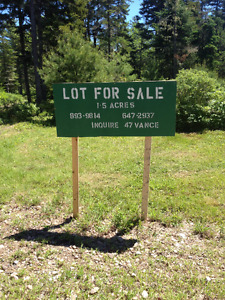 Beautiful Cottage Lot on Bay of Fundy (500m from Waterfront)