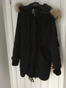 RW&Co Black coat with removable Sherpa lining