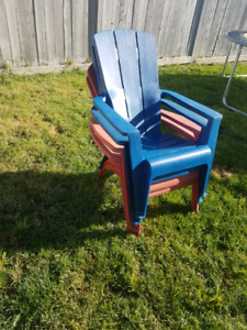 Plastic deck chairs