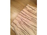 Gold Satin Curtains (pair)