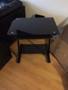 Tempered black computer desk West Island Greater Montréal image 2
