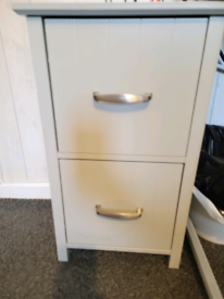 Grey bedside cabinet