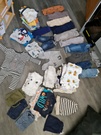 Large bundle of baby boys clothes 0-3, 3-6, 6-9