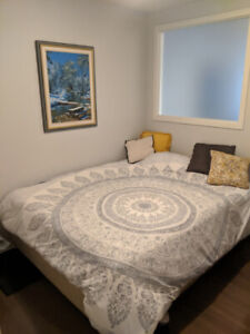 High End Box Spring Queen Bed with Quality Mattress