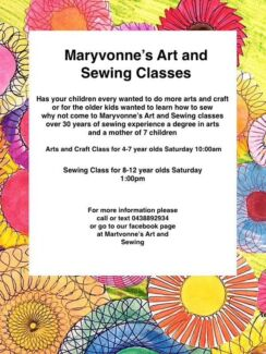 Maryvonne's Art and Sewing Classes