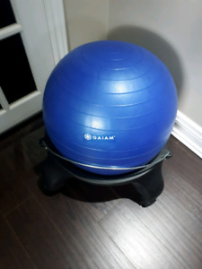 Backless Balance Ball Chair - Blue