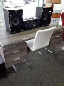 *** USED *** MONARCH DARK TAUPE DESK WITH CHAIR   S/N:51198256   #STORE311