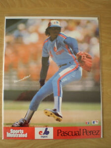 Pascual Perez 1980s Sports Illustrated Poster - Montreal Expos London Ontario image 1