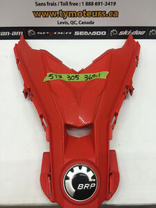 SKIDOO CAPOT CENTRAL XS ROUGE LAVE USE CLEAN 517305369