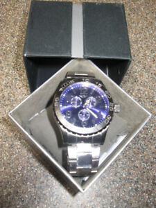 INVICTA MEN'S PRO DIVER WATCH  STAINLESS STEEL &  BLUE DIAL
