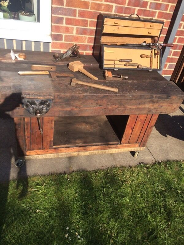 Old School Woodwork Bench Solid In Sunderland Tyne And Wear