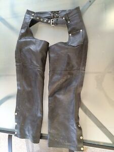Women's motorcycle leather chaps