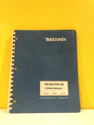 Tektronix 070-1786-02 Tm 506rtm 506 Power Module Instruction Manual