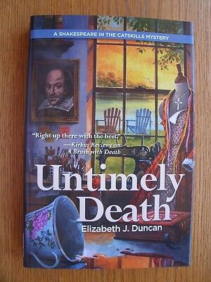 Elizabeth J. Duncan Untimely Death 1st ed HC SIGNED New](Untimely Death)
