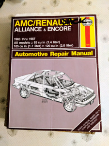 Haynes manual for AMC Renault Alliance and Encore