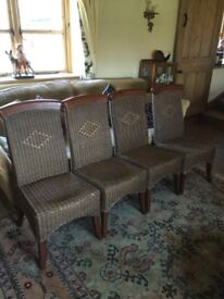 Wicker rattan dinning chairs