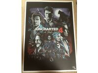 Uncharted 4 limited edition poster, number 2659/5000.... £40