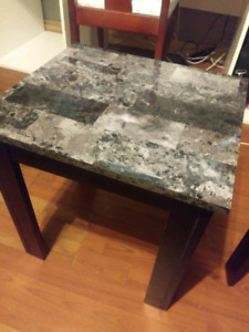 Black and grey marble coffee table set