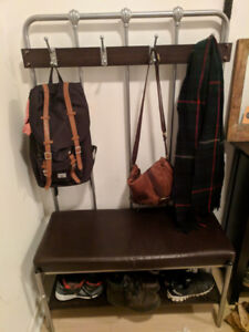 Moving Sale - (2) nightstands and (1) Bench Coat Rack - $160