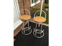Two Bar / Kitchen Stools ideal for Breakfast Bar