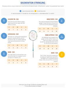 Badminton Stringing Service