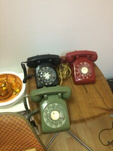 Rotary Phones- black sold green and red available
