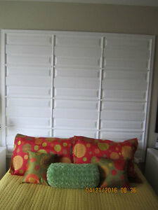 One of a Kind Large Elegant White Head Board.
