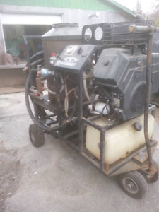 Gas powered hot water pressure washer