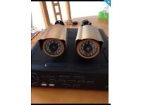 Wired cctv 2 camera outdoor