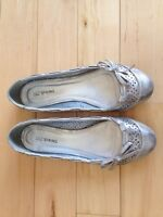 Silver Flats from Spring Shoes - Size 8