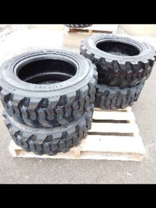 BRAND NEW UNUSED SET OF 4 10x16.5 SKID STEER TIRES!!