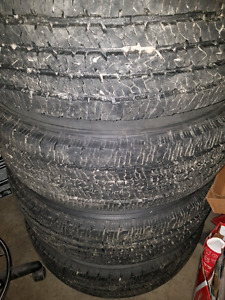 "18"" ram 3500 8 bolt rims and tires new"
