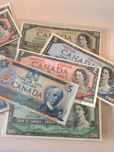 OLD DOMINION OF CANADA AND BANK OF CANADA BANKNOTES