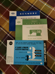 Original manuals for vintage Kenmore sewing machine.