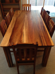African Blackwood Table and Chairs