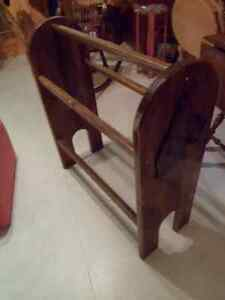 """Price Reduced"" Blanket Stand with Boxer Dog's Head on each end. London Ontario image 1"