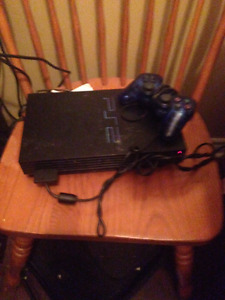 Ps2 Console with Black Controller