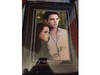 Edward and Bella signed picture £2