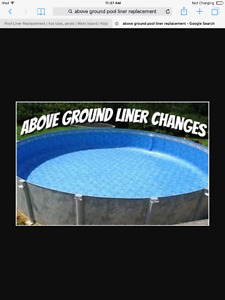 Pool Liner Replacement/Changement de toile de piscine