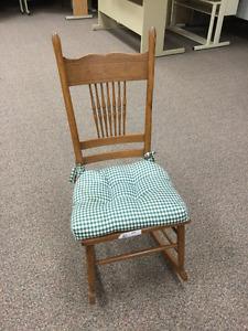 Vintage press back rocking chair