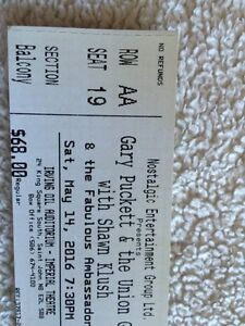 2 tickets to Gary Puckett and the Union Gap