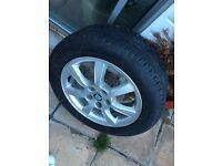 Jaguar X type alloy wheels tyres included