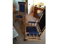Chairs - antique American rocker chairs.