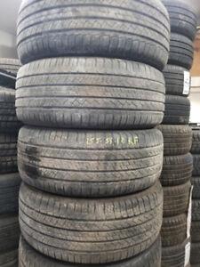 255 55 18 Michelin Latitude Run flat all season tires 80% tread