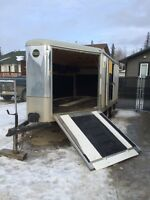 8.5 x 14 +5ft v-nose, enclosed drive on/drive off  trailer