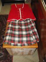 Highland Dance Kilt and Vest/National Costume Ladies Size 14