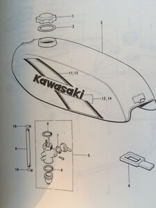 1975 Kawasaki KD80 Parts Catalogue Regina Regina Area image 4