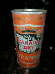 Vintage Canada Dry Orange Ginger Ale Tin Can