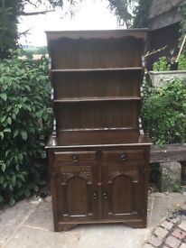 Vintage carved shabby chic Welsh dresser